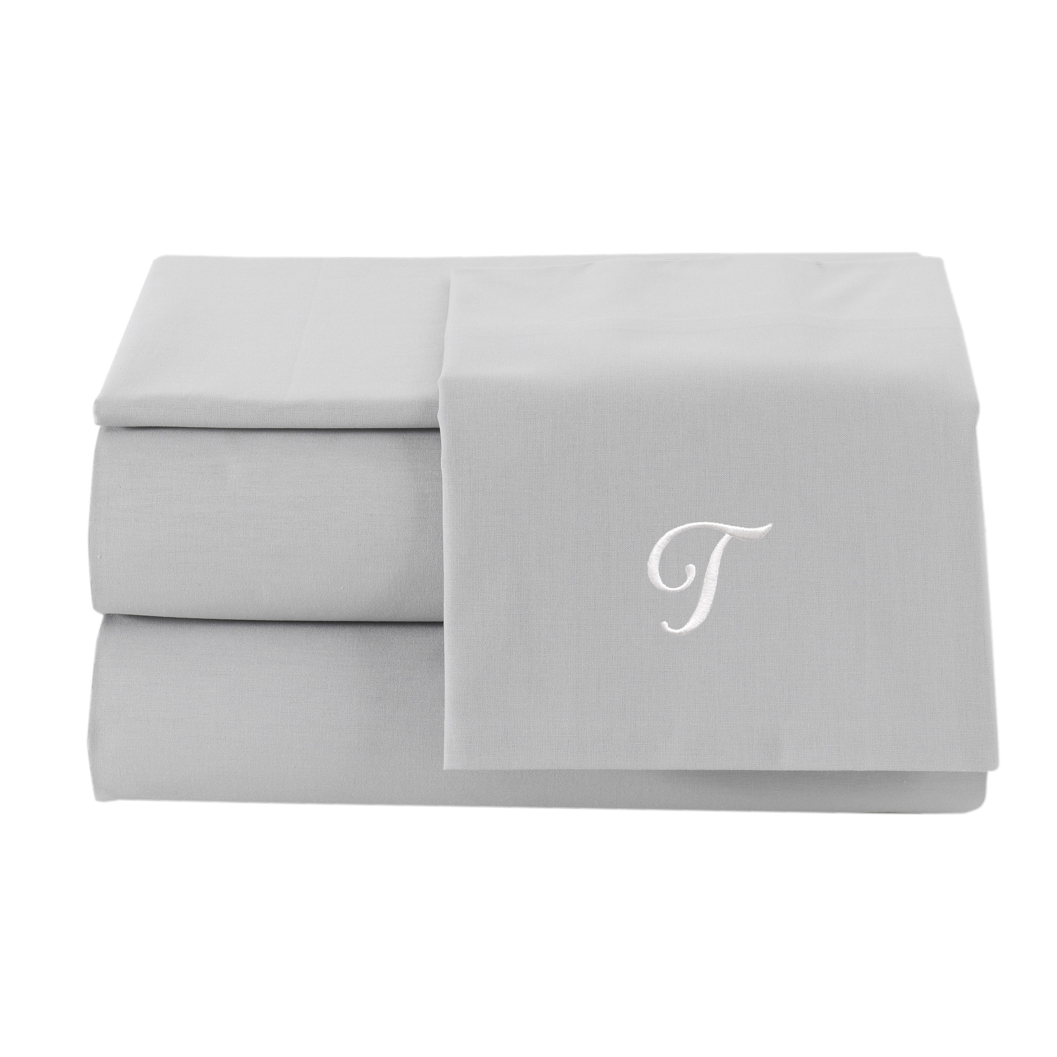 Linum Home Textiles Pamuk Luxury Monogrammed Silver Grey ...