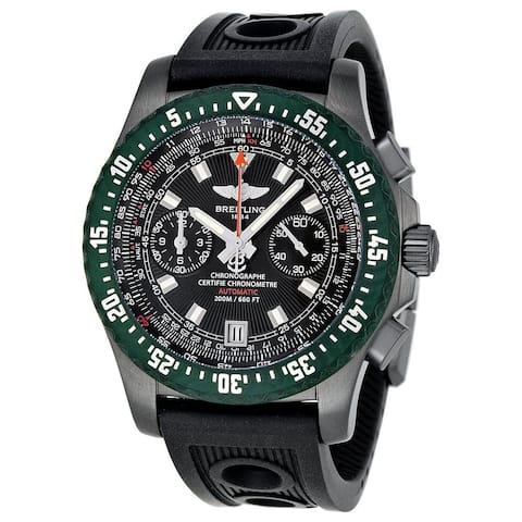 Breitling Men's M27363A3-B823 'Skyracer' Automatic Chronograph Black Rubber Watch