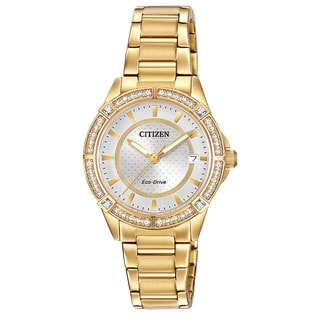 Citizen Women's Stainless Steel Drive POV Collection Austrian Crystal Eco-Drive Watch