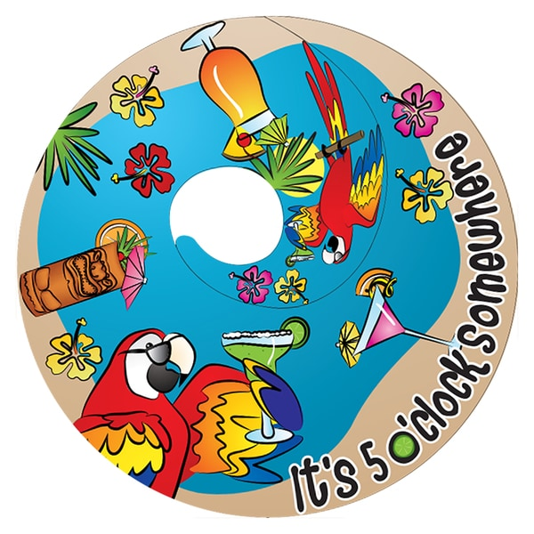 5 O Clock Somewhere Twin Spinner Free Shipping On Orders