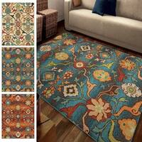 "Carolina Weavers Brighton Collection Dharan Blue Area Rug (7'10 x 10'10) - 7'10"" x 10'10"""