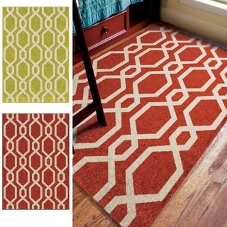 Carolina Weavers Playroom Collection Alamere Lime Green Area Rug (3'10 x 5'2)
