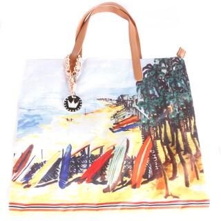 Hadari Women's Beach-Print Fabric Tote Bag