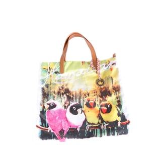 Hadari Women's Parrots-Print Fabric Tote Bag