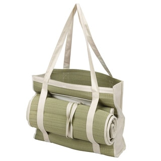 Goodhope Ecollection Straw Picnic Beach Tote with Mat