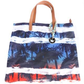 Hadari Women's Palm-Print Fabric Tote Bag