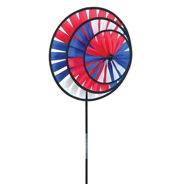 Patriotic Triple Wheel Spinner