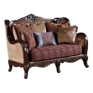 Global Furniture Yellow Burgundy Loveseat