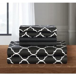 Chic Home 12-Piece Tymon Sheet Set,Black with 2 Bonus Pillow cases