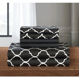 Chic Home 12-Piece Tymon Sheet Set,Black with 2 Bonus Pillow cases (2 options available)