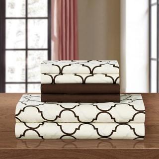 Chic Home 6-piece Brown Tymon Sheet Set