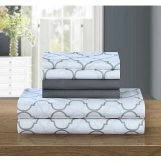 Chic Home 12-Piece Tymon Sheet Set,Grey with 2 Bonus Pillow cases