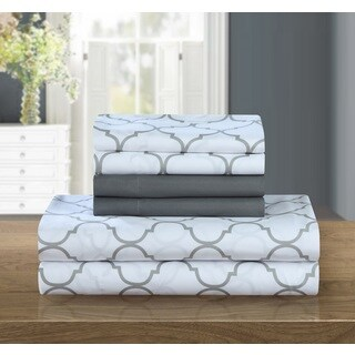 Chic Home 12-Piece Tymon Sheet Set,Grey with 2 Bonus Pillow cases