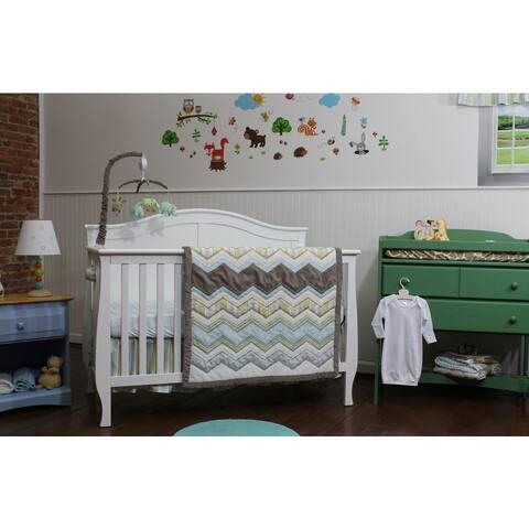 Zig Zag Baby 3-piece Nursery Bedding Set