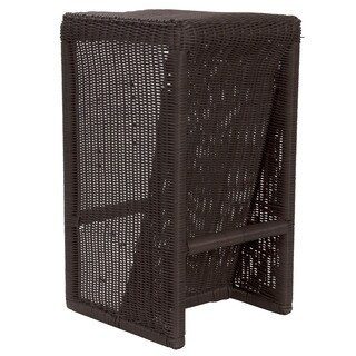 Household Essentials Brown Resin Wicker Counter Stool