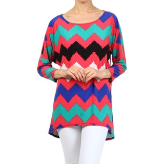 MOA Collection Women's Chevron Striped Top