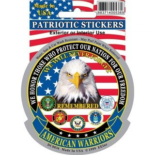 American Warriors Car Decal