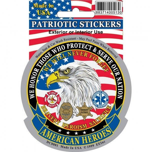 American Heroes Car Decal