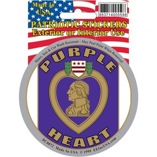 Purple Heart Logo Car Decal