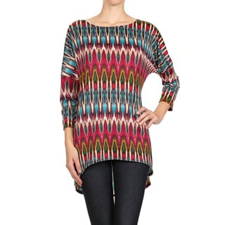 MOA Collection Women's Teal Tribal Pattern Top