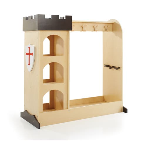 Castle Dramatic Play Storage - Espresso