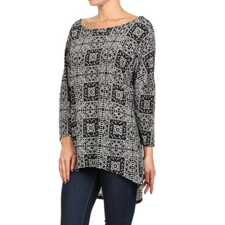 MOA Collection Women's Mosaic Print Top