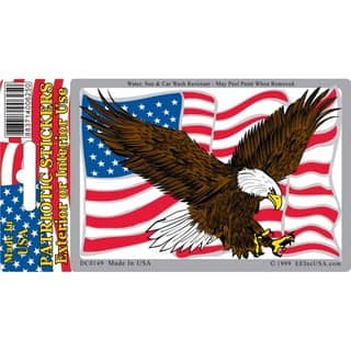 Flying Bald Eagle With American Flag Large Patch Free