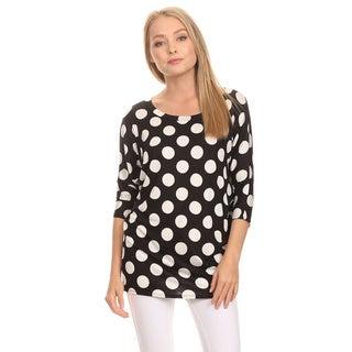MOA Collection Women's Polka Dot Shirt