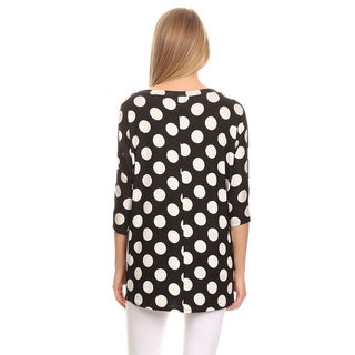 MOA Collection Women's Polka Dot Shirt