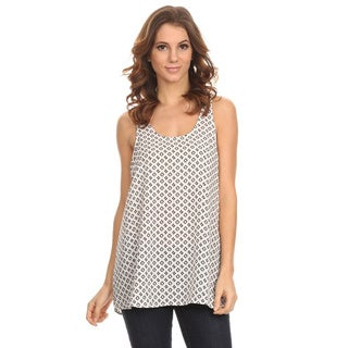 MOA Collection Women's Pattern Print Sleeveless Tank Top