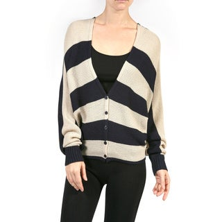 JED Women's Striped Long Sleeve Sweater Top