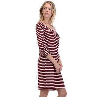 JED Women's Striped Casual Dress