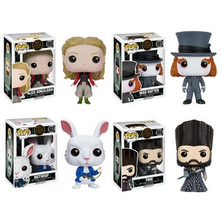 Funko Alice Through the Looking Glass POP. Disney Collectors 4-piece Set