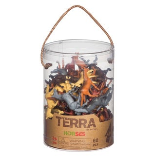 Terra Horse Figures 60-piece Set