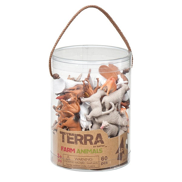 Terra Farm Animal Figures 60-piece Set