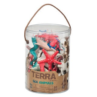 Terra Sea Animal Figures 60-piece Set