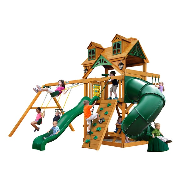 Gorilla Playsets Malibu Extreme Swing Set with Amber Posts