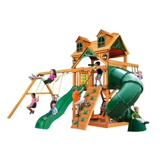 Gorilla Playsets Malibu Extreme Swing Set with Amber Posts