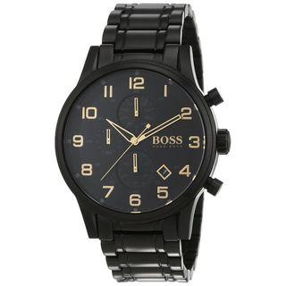 Hugo Boss Men's 1513275 'Aeroliner ' Chronograph Black Stainless Steel Watch