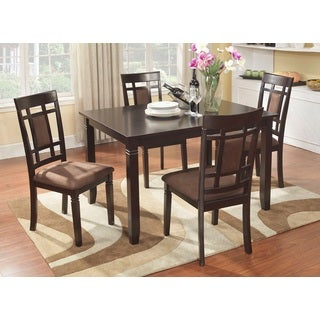 Inworld Dark Cherry 5 Piece Dining Set