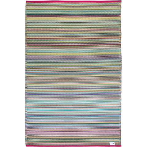 Fab Habitat Indoor/ Outdoor Recycled Plastic Rug Cancun Candy