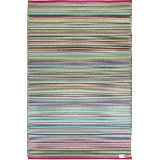 Fab Habitat Indoor/ Outdoor Cancun Candy Rug
