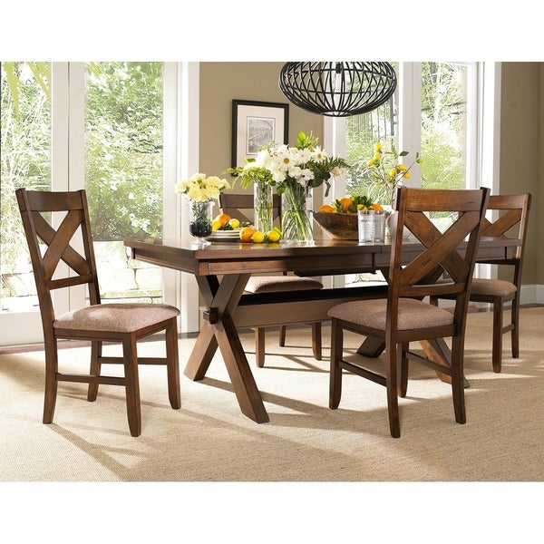 5 Piece Solid Wood Dining Set with Table and 4 Chairs