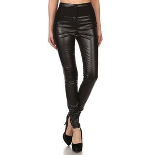 JED Women's High Waist Vegan Skinny Pants