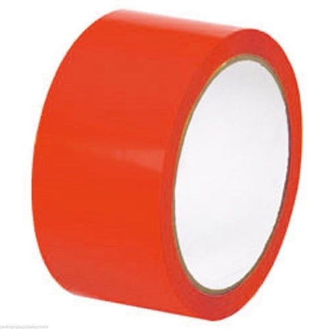 60 Rolls 2 Inch RED Tape 1000 Yds x 2 mil Packing Tape