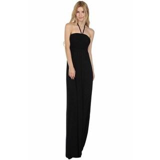 JED Women's Halter Smocked Maxi Dress