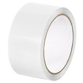 White Colored Packing Tapes 2 Inch x 1000 Yards Color Tape 2 Mil 12 Rolls