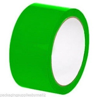 36 Rolls Color Packing Tape 2 mil Green 2 Inch x 1000 Yards Colored Tape(36)