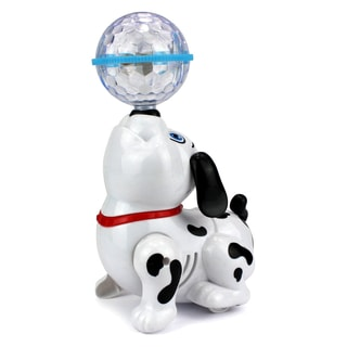 Dancing Dalmatian Dog Toy Figure with Flashing Lights and Sounds