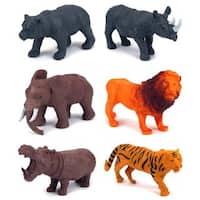 Jungle Animals 6-piece Toy Animal Figures Playset